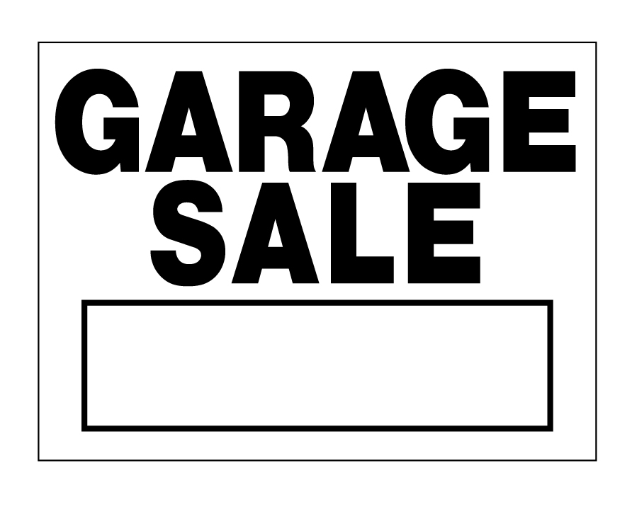 buy our black and white  u0026quot garage sale u0026quot  sign from signs