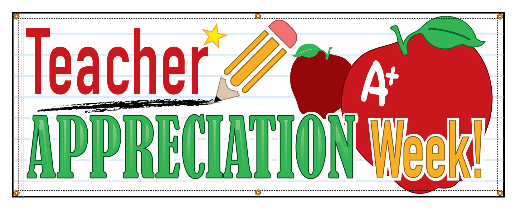 """Buy our """"Teacher Appreciation Week"""" banner from Signs ..."""
