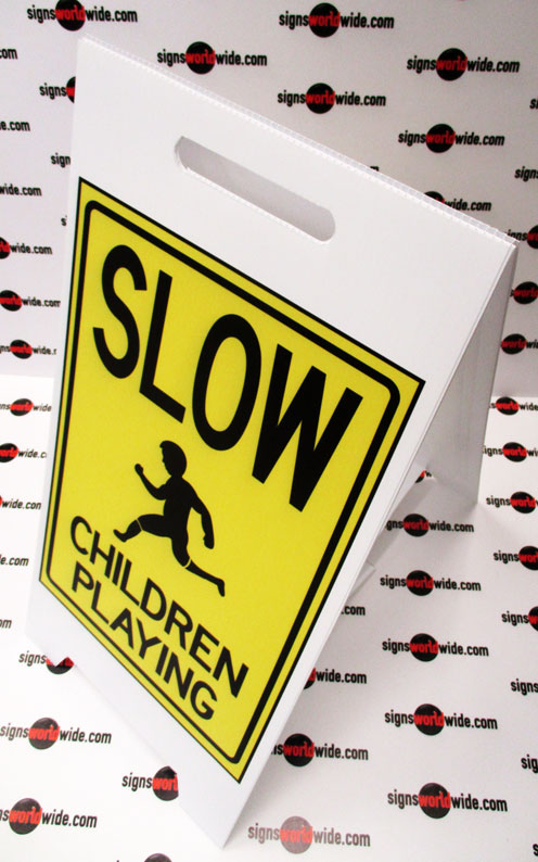 Slow-Children-Playing-coro-A-frame-sign