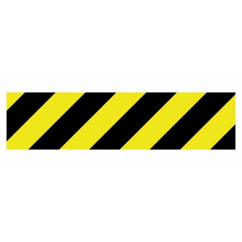 buy our caution stripe decal from signs world wide. Black Bedroom Furniture Sets. Home Design Ideas