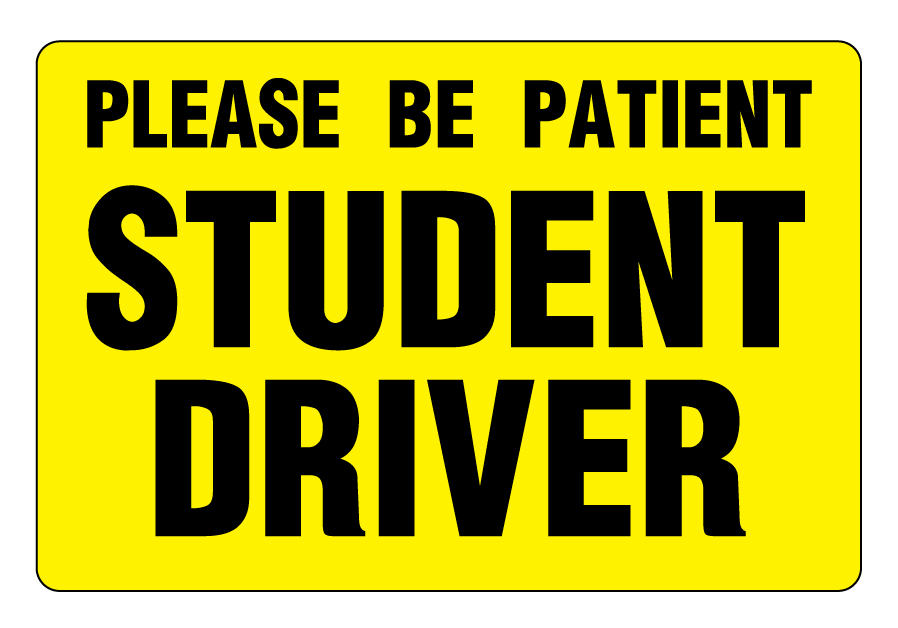 It is an image of Sizzling Student Driver Sign Printable