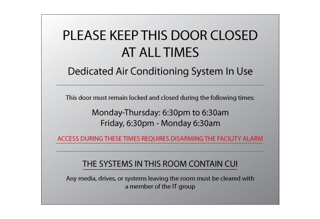 Buy Our Quot Please Keep Door Closed Ac In Use Quot 8 Quot X 10