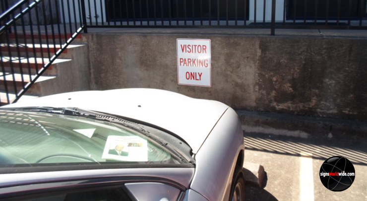 Parking Only sign image