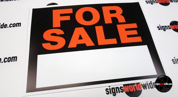 For Sale plastic sign image