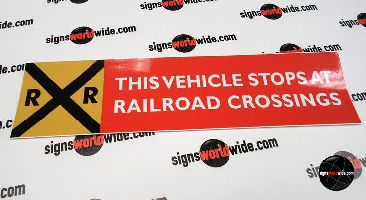 This Vehicle Stops at Railroad Crossing image