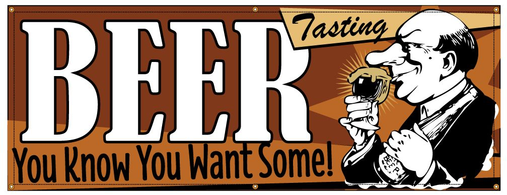 buy our beer tasting banner at signs world wide
