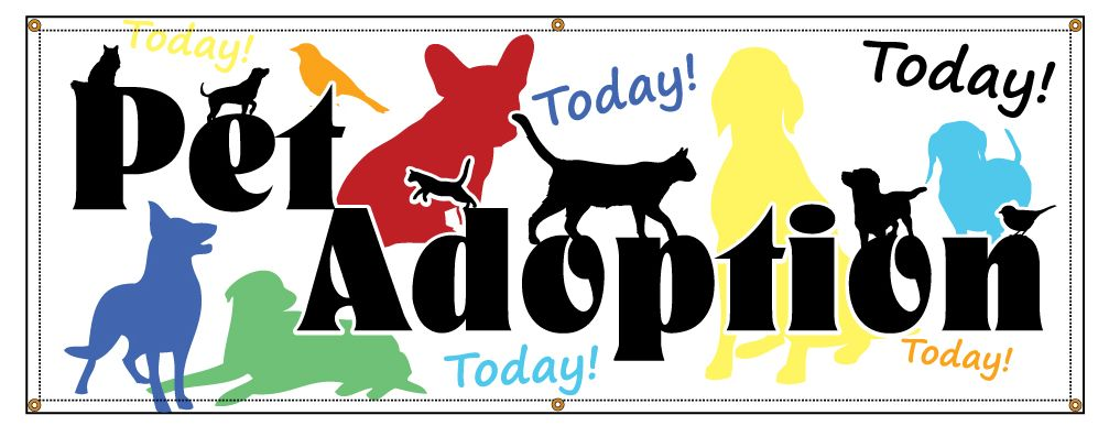 Buy Our Pet Adoption Today Banner At Signs World Wide