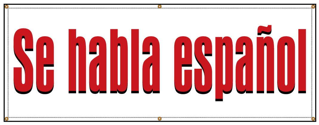 2x3 HABLAMOS ESPANOL Red White /& Green Banner Sign NEW Discount Size /& Price