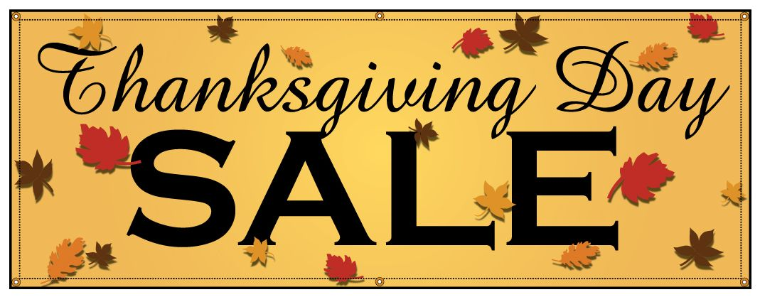 Buy Our Thanksgiving Day Sale Banner At Signs World Wide