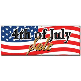 American Flag 4th of July Banner Image