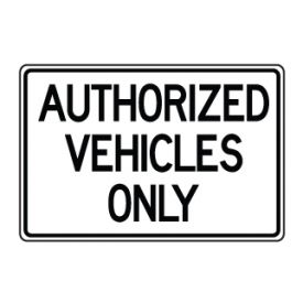 Authorized vehicles sign image