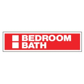 Bedroom Bath sign image