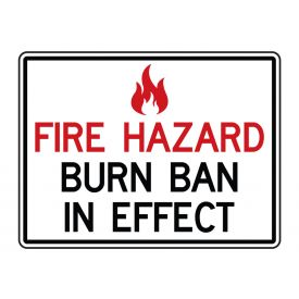 Burn Ban In Effect sign image