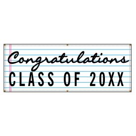Congratulations 20XX lined paper design