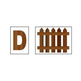 D Fence sign image