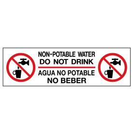 Non-potable water decal image