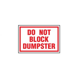 Do Not Block Dumpster image