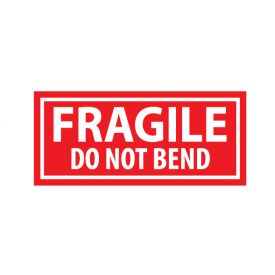 Fragile Do Not Bend decal image