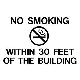 No Smoking within 30 feet decal image