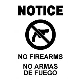 No Firearms decal image