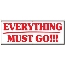 Everything must go banner image