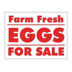 Farm Fresh Eggs sign image