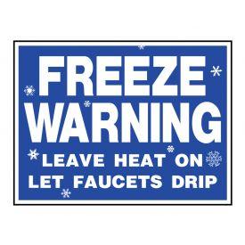 Freeze Warning sign image