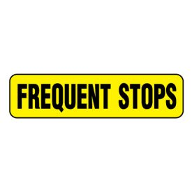 Frequent Stops Y&B magnetic image