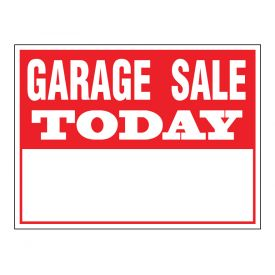 Garage Sale Today sign image