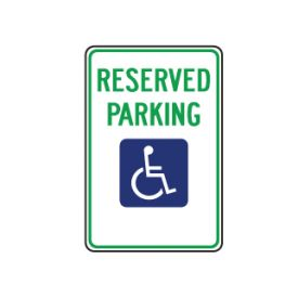 Reserved Parking sign image