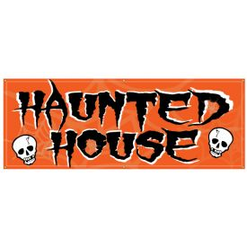 Haunted House skull banner image