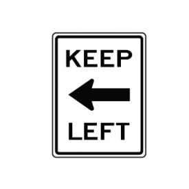 Keep Left arrow sign image