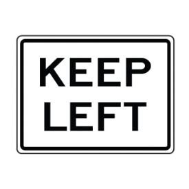 Keep Left text sign image