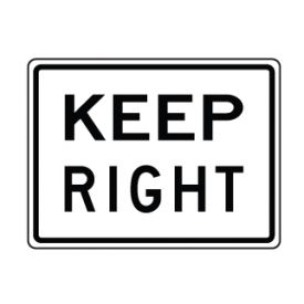 Keep Right text sign image