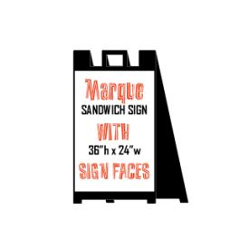 Black sandwich sign image
