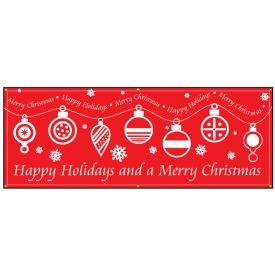 Merry Christmas Happy Holidays banner image
