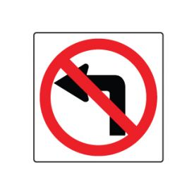No left turn symbol sign image