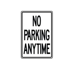 No Parking Anytime sign image