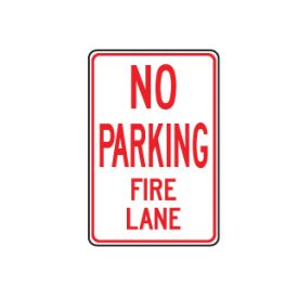 No Parking Fire Lane sign image