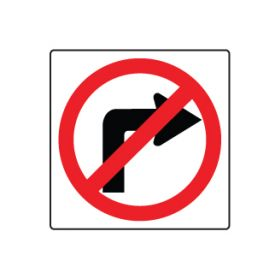 No Right Turn symbol sign image