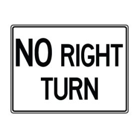 No Right Turn sign image