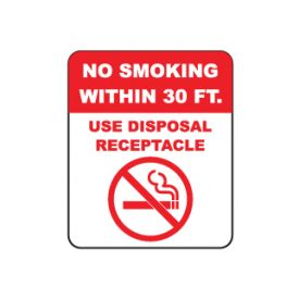 No Smoking sign image