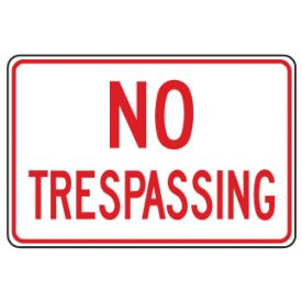 No Trespassing sign image