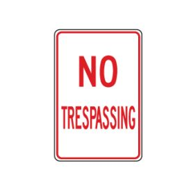 No Trespassing vertical sign image