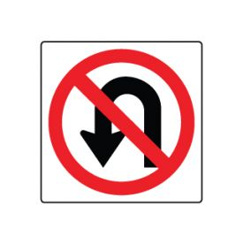 No U Turn symbol sign image