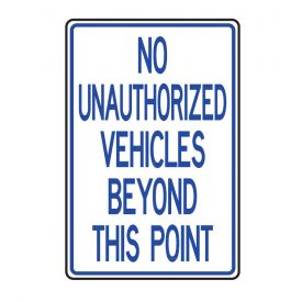 No Unauthorized vehicles sign image