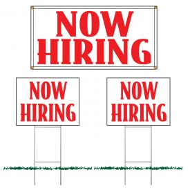 Now hiring sign set image