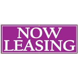 NOW LEASING banner image with border