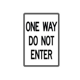 One Way Do Not Enter sign image