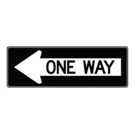 One Way Left Arrow sign image